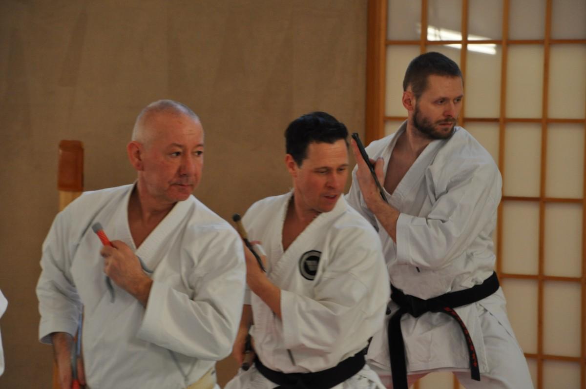 Yamanni Chinen Ryu - Bo training